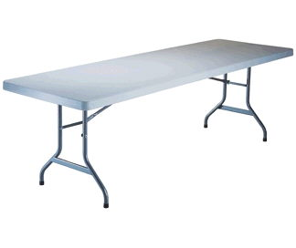 Where to find TABLE, 8  LONG RECTANGLE PLASTIC in Richland