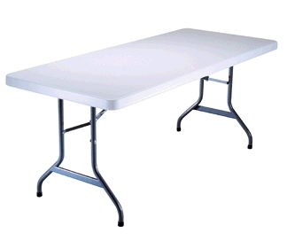 Where to find TABLE, 6  LONG RECTANGLE PLASTIC in Richland