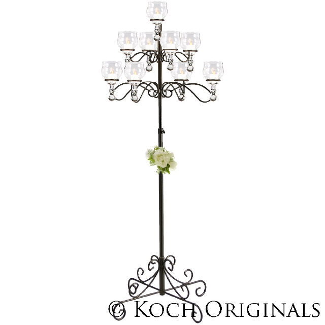 Where to find CANDELABRA, 9 BRANCH ROUND SILVER in Richland