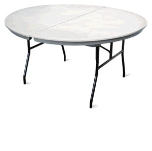 Where to find TABLE, 60  ROUND PLASTIC in Richland