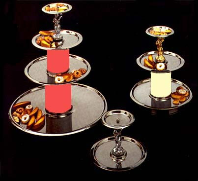 Where to find TRAY, FOUR TIER SILVER ILLUMINATED in Richland